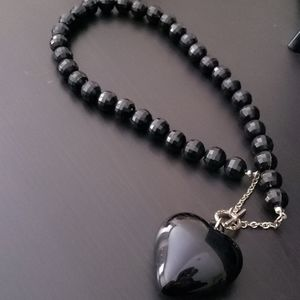 Black heart necklace🖤